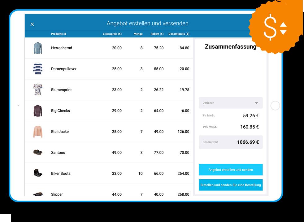 SaleSphere - Warenkorb inkl. Angebotskonfigurator
