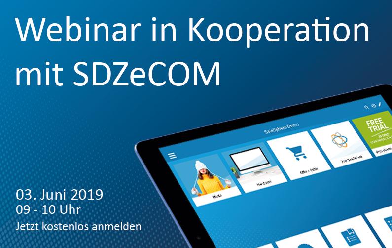 Webinarin Kooperation mitSDZeCOM
